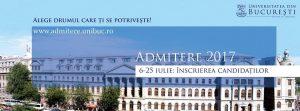 Admitere 2017 Universitatea BUcuresti